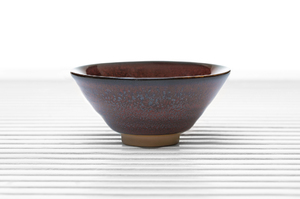 Conical Tea Bowl With  Maroon Speckled Glaze